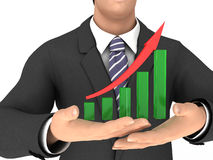 Graph with red arrow #2 Stock Photos