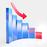 Graph reduction Stock Image