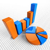 Graph Report Indicates Business Statistic And Diagram Royalty Free Stock Photos