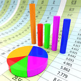 Graph Report Indicates Diagram Charts And Analysis Royalty Free Stock Photos