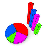 Graph Report Indicates Finance Business And Data Royalty Free Stock Image