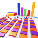 Graph Report Means Finance Data And Information. Graph Report Indicating Profit Data And Statistical Stock Image