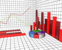 Graph Report Means Trend Graphs And Graphic. Graph Report Showing Statistical Information And Statistics Royalty Free Stock Image
