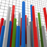 Graph Report Represents Finance Graphic And Diagram. Graph Report Indicating Trend Data And Statistical Royalty Free Stock Photo