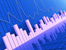Graph Report Represents Statistic Information And Statistical. Graph Report Indicating Statistical Graphs And Forecast Stock Photography