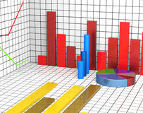 Graph Report Shows Statistic Statistics And Infochart Stock Photos