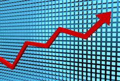 Graph rising Stock Image