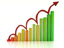 Graph rising Royalty Free Stock Image