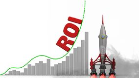 The graph of ROI Return On Investment growth
