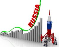 The graph of Russia success Stock Image