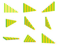 Graph set Royalty Free Stock Photo