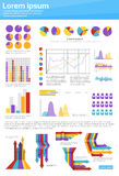 Graph Set Finance Diagram Infographic Icon Financial Business Chart. Flat Vector Illustration Royalty Free Stock Photo