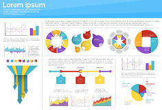 Graph Set Finance Diagram Infographic Icon Financial Business Chart Stock Photo