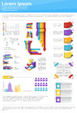 Graph Set Finance Diagram Infographic Icon Financial Business Chart Royalty Free Stock Photography