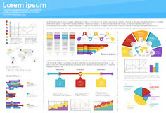 Graph Set Finance Diagram Infographic Icon Financial Business Chart Stock Image