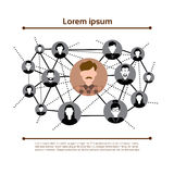 Graph Set Human Resources Infographic Icon Business Network Chart Royalty Free Stock Images