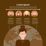 Graph Set Human Resources Infographic Icon Business Network Chart Stock Photography