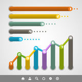 Graph set. Vector illustration. Modern Royalty Free Stock Photos