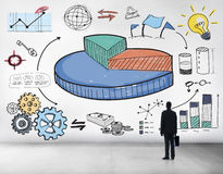 Graph Shares Sales Revenue Research Business Concept Royalty Free Stock Photo