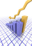 Graph showing falling profits Stock Photo