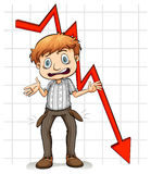 Graph showing a poor man Stock Photo