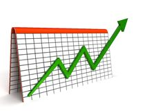 Graph showing profit. Three dimensional graph showing profit Royalty Free Stock Image