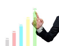 The graph shows. The graph shows the growth of the business Royalty Free Stock Photo