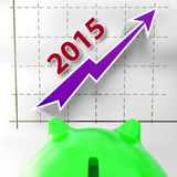 Graph 2015 Shows Financial Forecast Projecting. Graph 2015 Showing Financial Forecast Projecting Growth Stock Photos