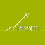 The graph shows the growth and profit. Stock Photography