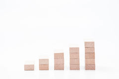 Graph. Small wood graph isolated on white background Stock Images