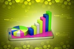 Graph on smart phone Stock Photo