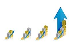 Graph steps illustration design Stock Photography