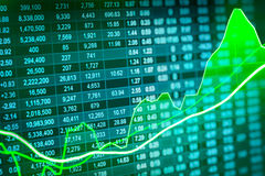 Graph of stock market data and financial with stock analysis ind Stock Photography