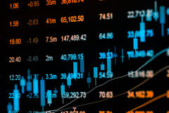 Graph of stock market data and financial with stock analysis ind Stock Images