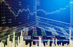 Graph of stock market data and financial with stock analysis ind Royalty Free Stock Photography