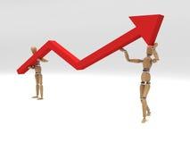 Graph of success Stock Photos
