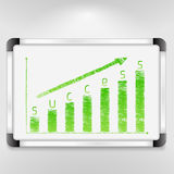 Graph of success Stock Images