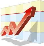 Graph of success Stock Photography