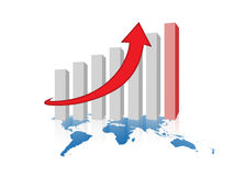 Graph of success business company Stock Image