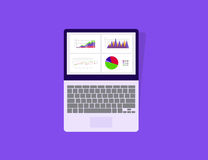 Graph in tablet device with dashboard analytic monitor concept Royalty Free Stock Photography