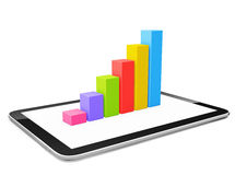 Graph and Tablet Photo Illustration Stock Images