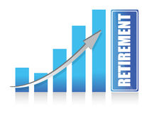 Graph to retirement illustration design Royalty Free Stock Photography