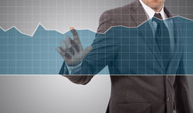 Graph touch Stock Images