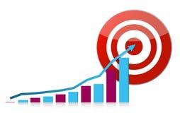 Graph traget illustration design Stock Images