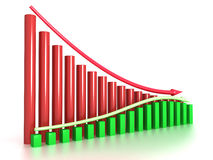 The graph of the two arrows №3 Royalty Free Stock Photos