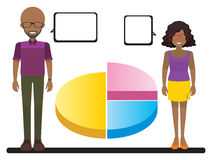 A graph with two people Stock Photography