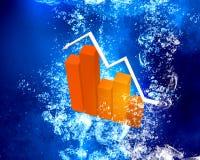 Graph under water Stock Photos