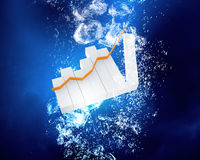 Graph under water Stock Photography