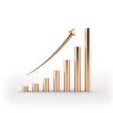 Graph up Royalty Free Stock Images