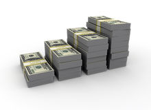 Graph from us dollar bills Royalty Free Stock Image